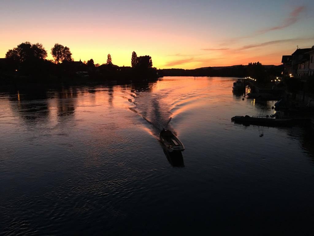 Stein am Rhein- Sonnenuntergang am Rhein