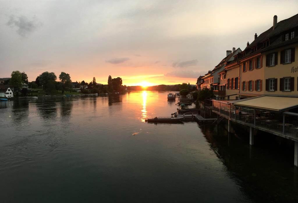 Stein am Rhein - Sonnenuntergang am Rhein